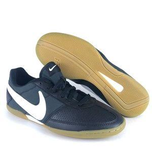 Nike Davinho Indoor Soccer Shoes Black White Mens
